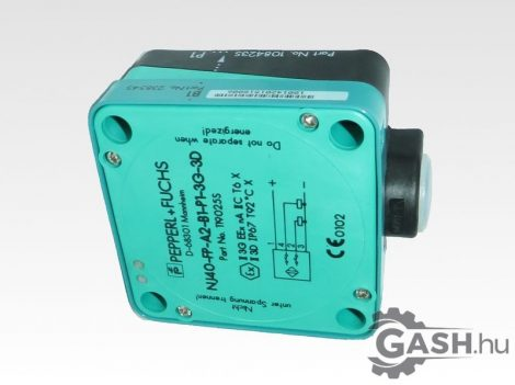 Induktív érzékelő, Pepperl+Fuchs 119025 NJ40-FP-A2-B1-P1-3G-3D
