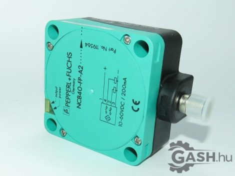Induktív érzékelő, Pepperl+Fuchs 129430 NCB40-FP-A2-P1-V1