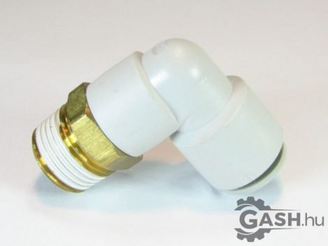 Dugaszolható menetes L gyorscsatlakozó, SMC Pneumatics KQ2L10-03AS - KQ2L1003AS