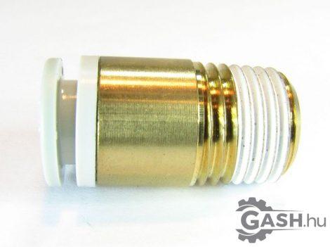 Dugaszolható menetes egyenes gyorscsatlakozó, SMC Pneumatics KQ2S08-02AS - KQ2S0802AS