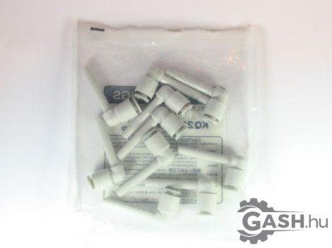 L gyorscsatlakozó 10db/csomag, SMC Pneumatics KQ2W06-99A - KQ2W0699A