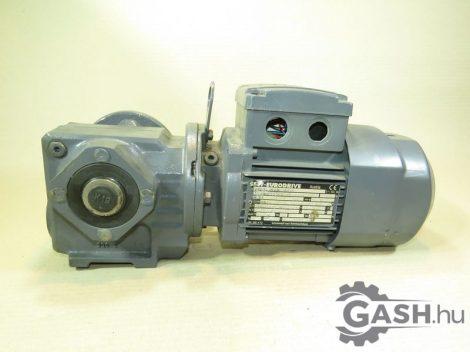 Hajtóműves motor, SEW-Eurodrive SAF37 DR63M6/BR