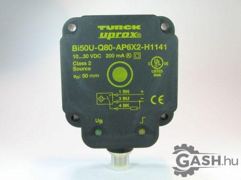 Induktív érzékelő, Turck Bi50U-Q80-AP6X2-H1141 - Bi50UQ80AP6X2H1141 - 1608940