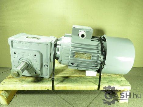 Hajtóműves motor, MEZ Mohelnice 4APB90S-4 Leroy Somer MB 2401 BOOX hajtóművel