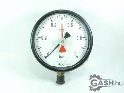 Nyomásmérő, VEB Messgerätewerk TGL manométer 0-1 bar