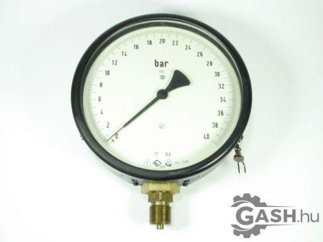 Nyomásmérő, VEB Messgerätewerk Manométer 0-40 bar