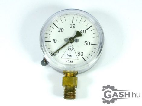 Nyomásmérő, Óra- és Műszer Ipari Szövetkezet Manométer 0-60 bar