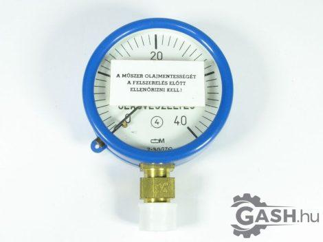 Nyomásmérő, Óra- és Műszer Ipari Szövetkezet Manométer 0-40 kp/cm2