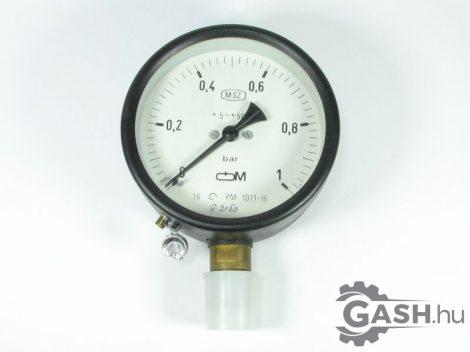 Nyomásmérő, Óra- és Műszer Ipari Szövetkezet Manométer 0-1 bar