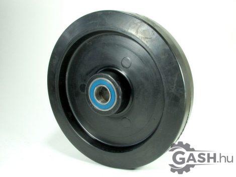 Tömör gumis kerék, 250x60 csapágyas fekete