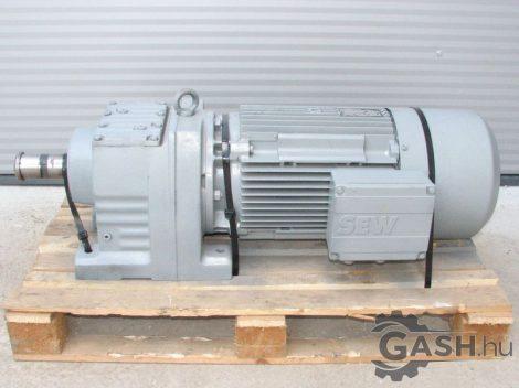 Hajtóműves motor, SEW-Eurodrive R87 DV132ML8/2/BM talpas