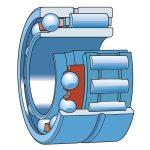 Kombinált tűgörgős/golyóscsapágy, FAG NKIA 5904 20x37x23 egyirányú terhelésre