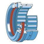 Kombinált tűgörgős/hengergörgős csapágy, INA NKXR 17 Z 17x26x25 porvédővel